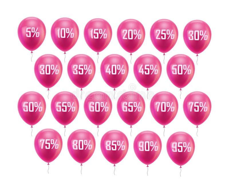 Розовая скидка воздушного шара бесплатная иллюстрация