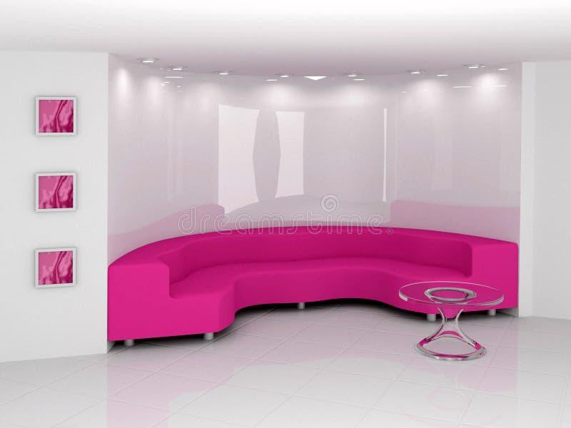 розовая софа стоковые фото