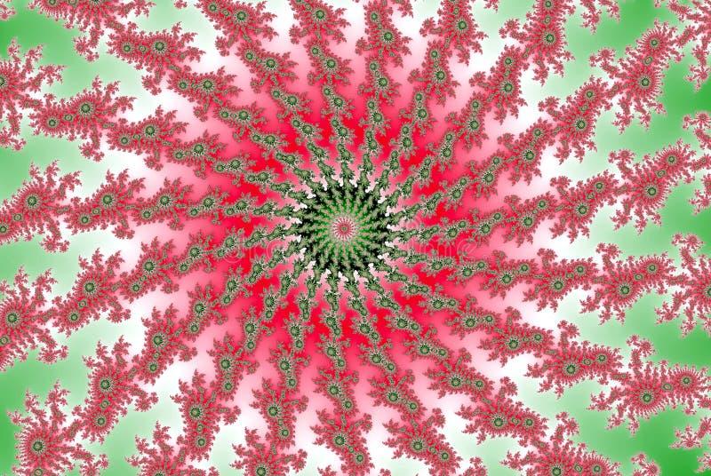 Розовая спиральная свирль фрактали волны в форме лета весны иллюстрация вектора