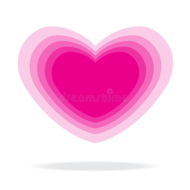 Розовая ступенчатость формы сердца иллюстрация штока