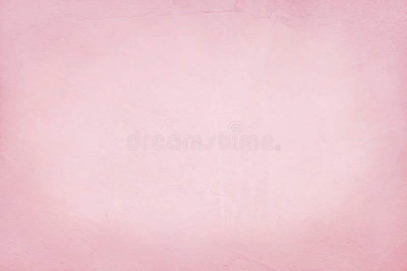 Розовая текстура стены цемента для произведения искусства предпосылки и дизайна стоковые изображения