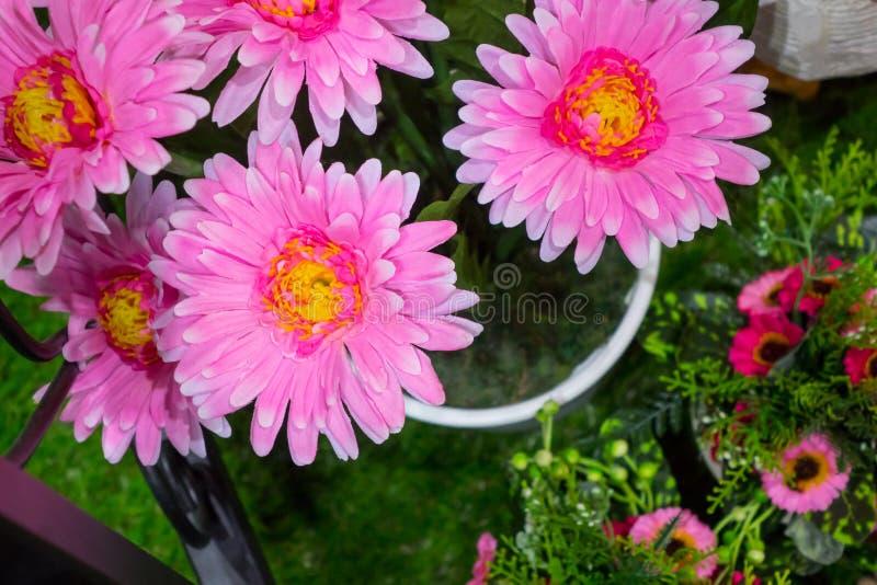 Розовая фальшивка Gerbera стоковое изображение rf