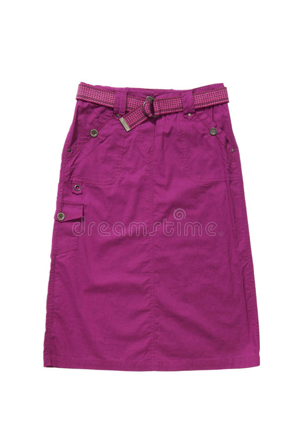 Розовая юбка изолированная на белизне стоковое изображение rf