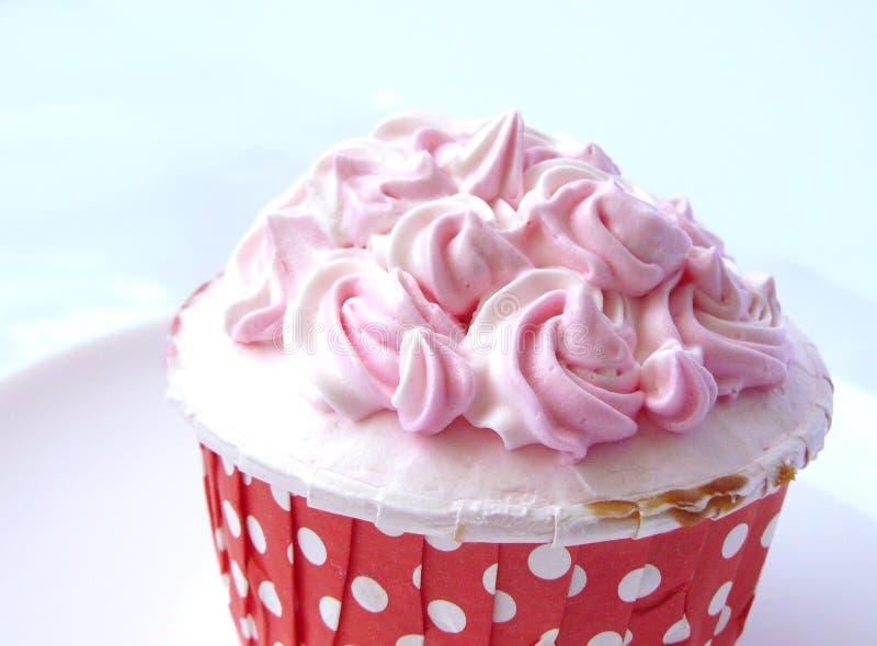 Розовое ванильное пирожное стоковое фото rf