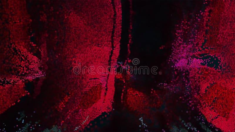Розовое искусство пиксела поверхности 3D стоковые фотографии rf