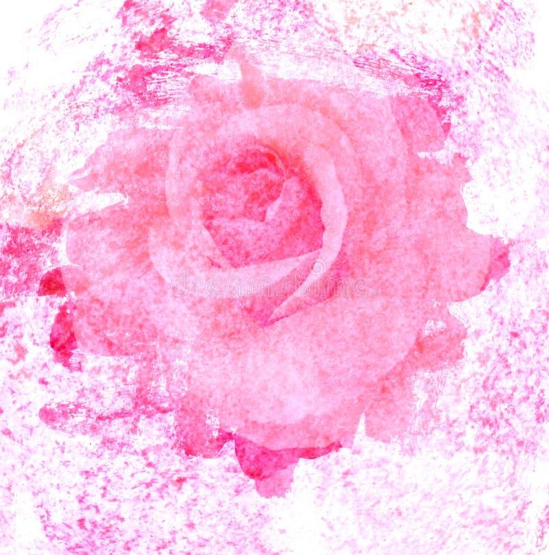 Розовое искусство с увядает абстрактная текстура стоковое изображение rf