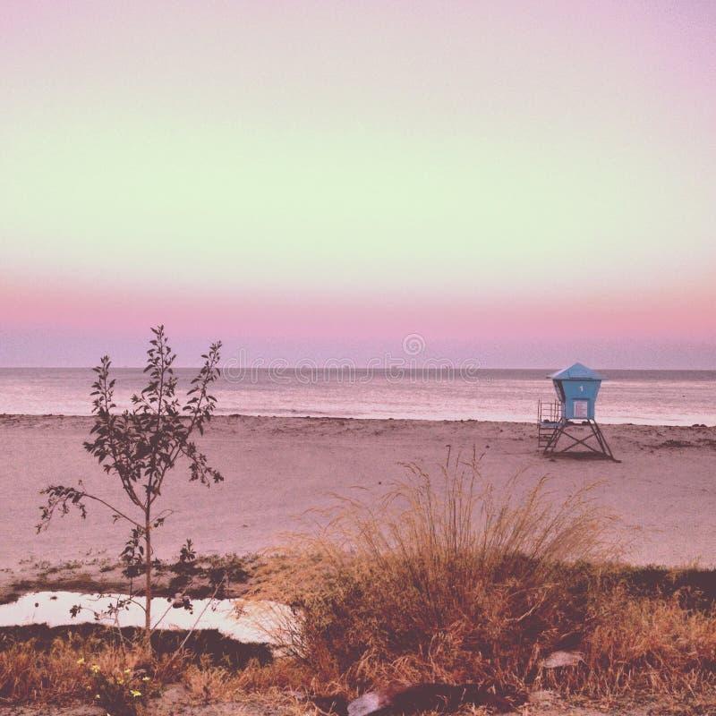розовое небо стоковое изображение