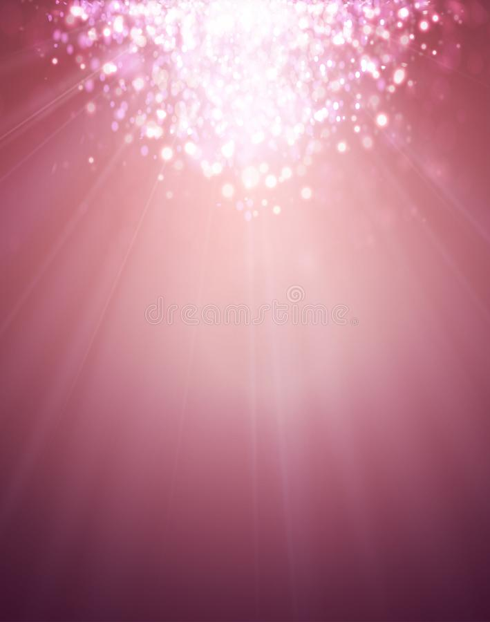 Розовое очарование освещает на мягкой предпосылке с влиянием Bokeh иллюстрация вектора
