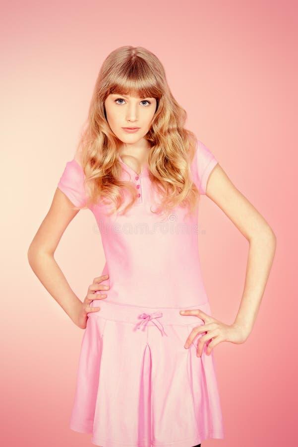 розовое предназначенное для подростков стоковая фотография rf