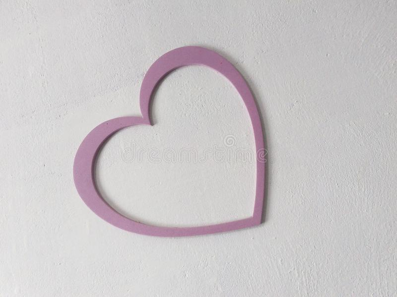 Розовое сердце стоковое фото