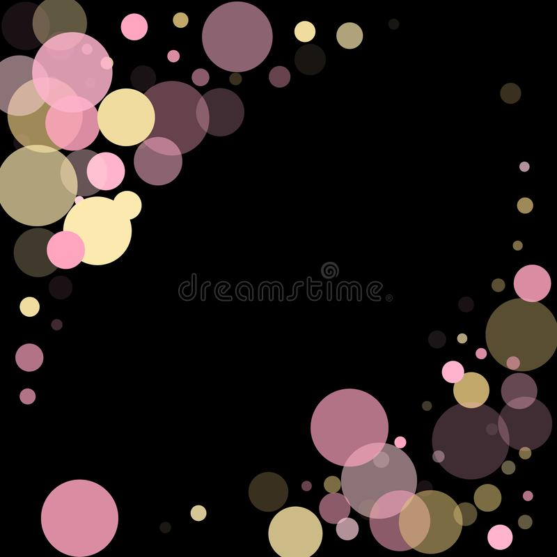 Розовое украшение круга confetti золота для предпосылки знамени рождества бесплатная иллюстрация