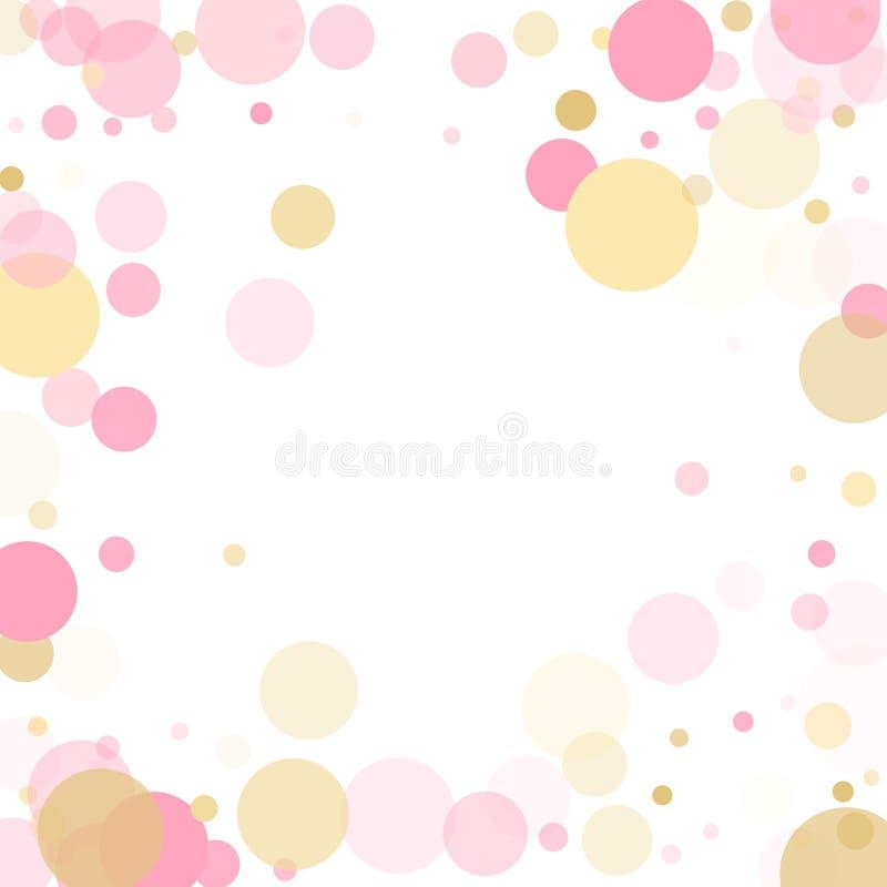 Розовое украшение круга confetti золота для предпосылки карты Нового Года бесплатная иллюстрация