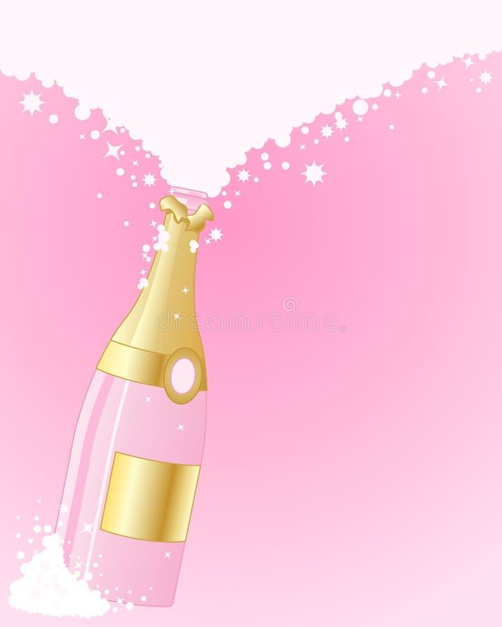 Розовое шампанское иллюстрация штока