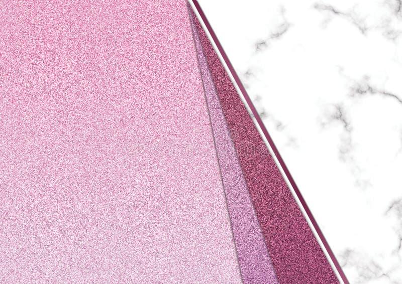 Розовое blackground мрамора яркого блеска, текстура яркого блеска Shimmer, Templa стоковая фотография