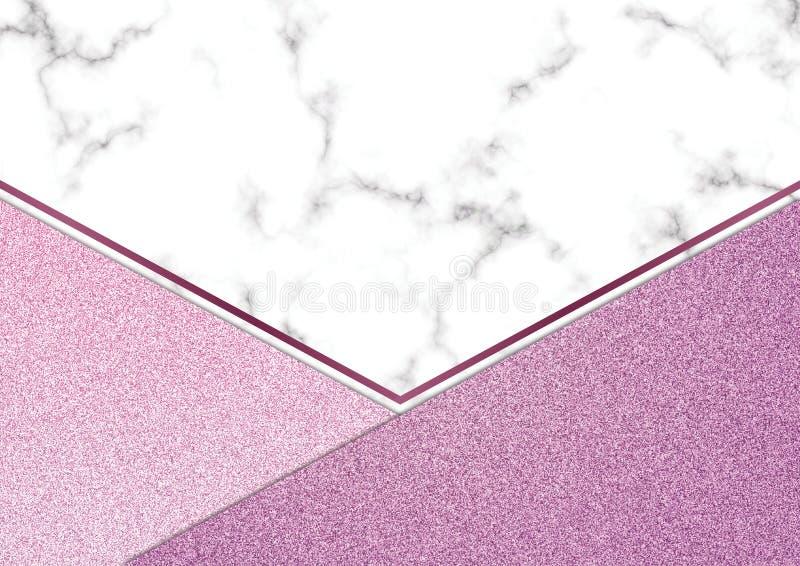 Розовое blackground мрамора яркого блеска, текстура яркого блеска Shimmer, Templa стоковые изображения