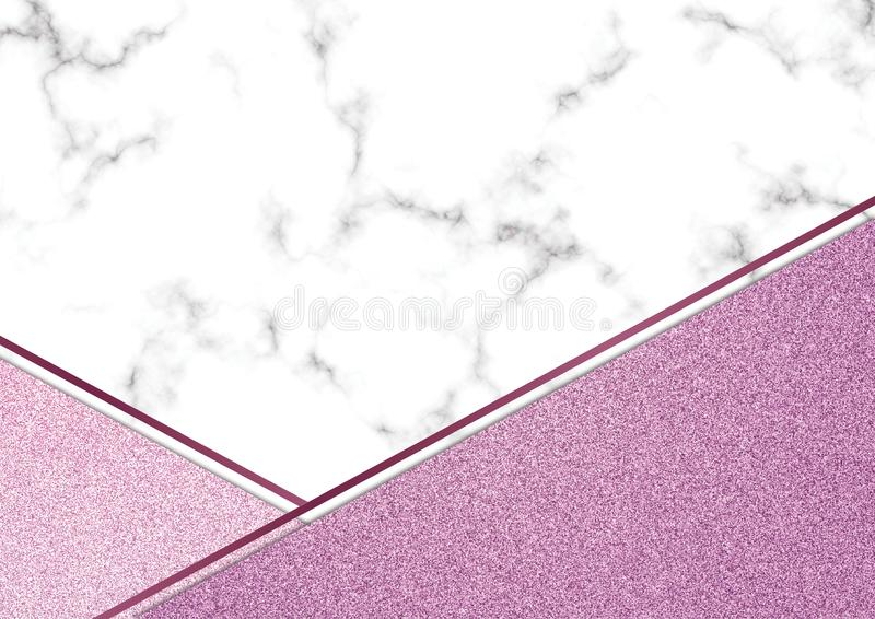 Розовое blackground мрамора яркого блеска, текстура яркого блеска Shimmer, Templa стоковые фото