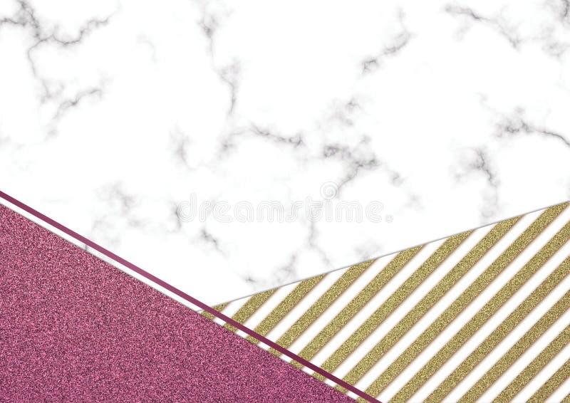 Розовое blackground мрамора яркого блеска, текстура яркого блеска Shimmer, Templa стоковое изображение