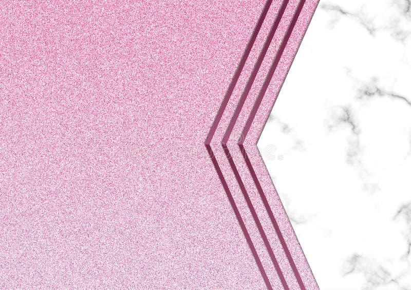 Розовое blackground мрамора яркого блеска, текстура яркого блеска Shimmer, Templa стоковые изображения rf