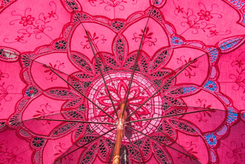 Розовое fron Venise зонтика dentelle стоковые фото