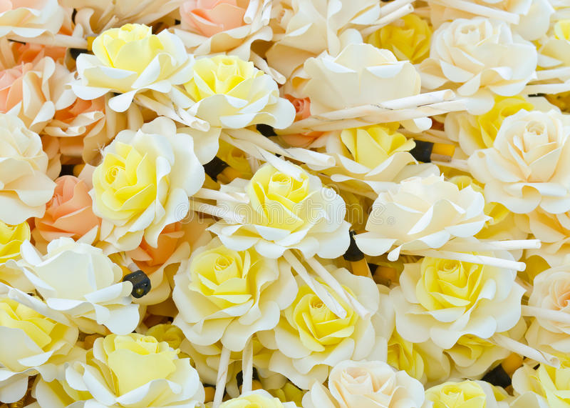 Розовые деревянные цветки стоковое изображение