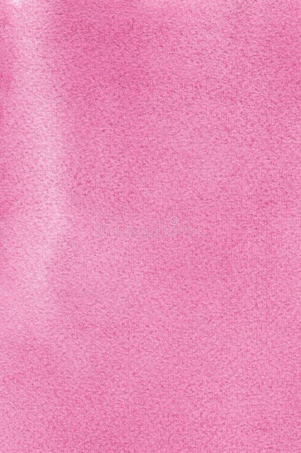 Розовые естественные handmade watercolours aquarelle красят картину текстуры, вертикальный текстурированный крупный план макроса  стоковые изображения rf