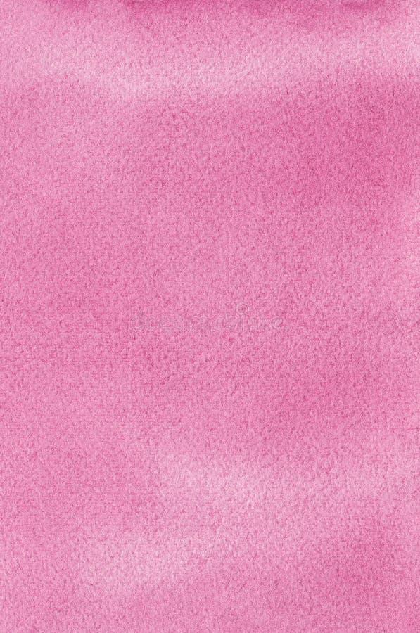 Розовые естественные handmade watercolours aquarelle красят предпосылку картины текстуры, вертикальный текстурированный макрос ка стоковая фотография rf