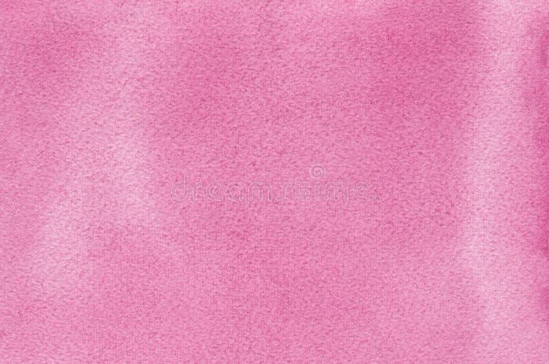 Розовые естественные handmade watercolours aquarelle красят предпосылку картины текстуры, горизонтальный текстурированный макрос  стоковые фотографии rf