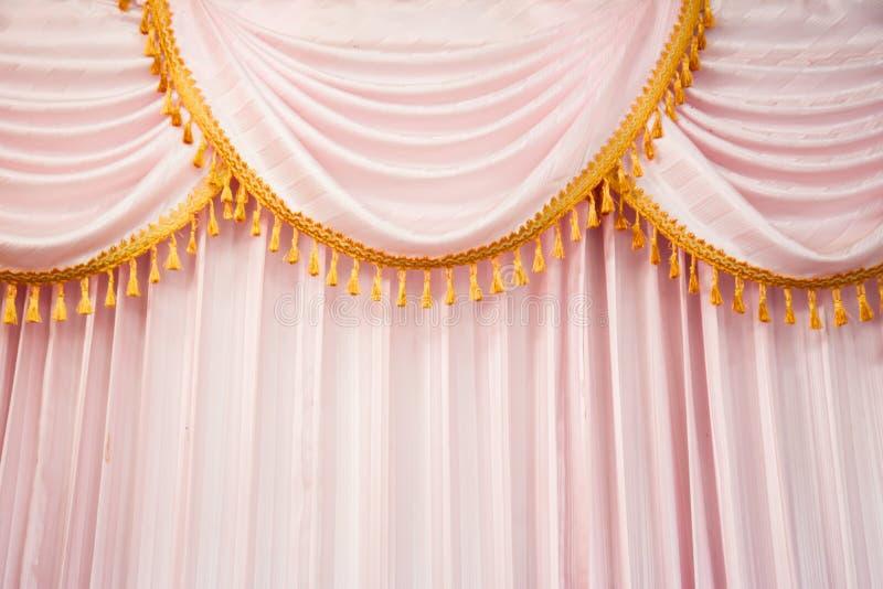 Розовые занавесы стоковая фотография rf