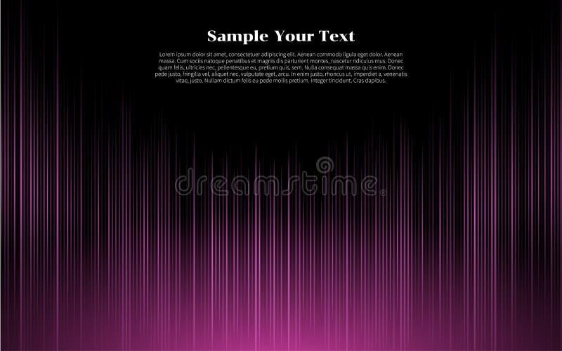 Розовые неоновые абстрактные линии дизайн на темной линии реалистических элементах влияния дизайна бесплатная иллюстрация