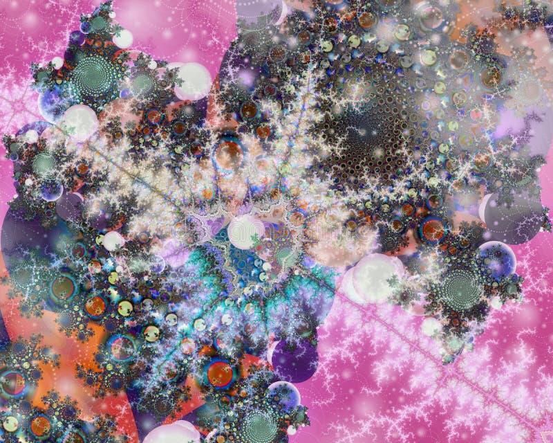Розовые потоки через представленный космос стоковое изображение rf