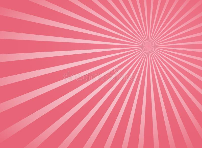 Розовые радиальные лучи и линии предпосылка лучей абстрактные бесплатная иллюстрация