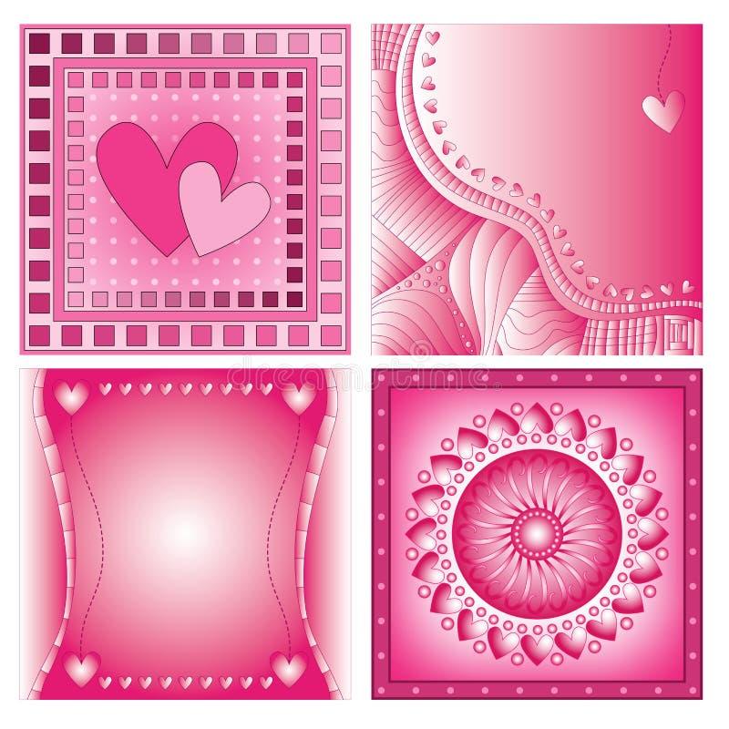 Розовые романтичные предпосылки сердца бесплатная иллюстрация