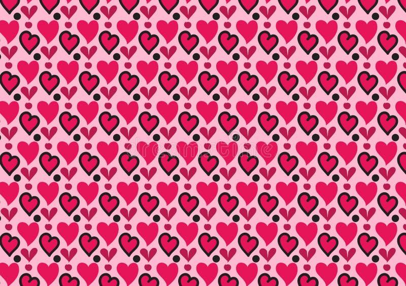 Розовые сердца и обои картины кругов бесплатная иллюстрация