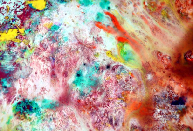 Розовые серые оранжевые закоптелые пастельные цвета, предпосылка акварели яркой пастельной краски акриловая, красочная текстура стоковые фотографии rf