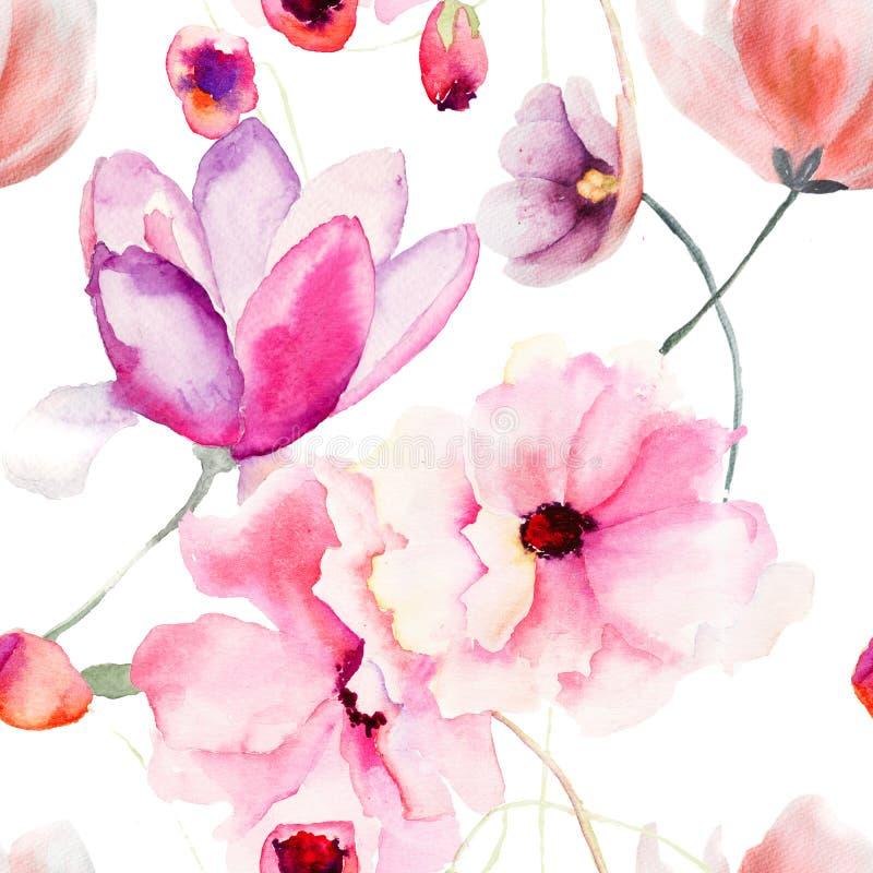 Розовые цветки иллюстрация штока