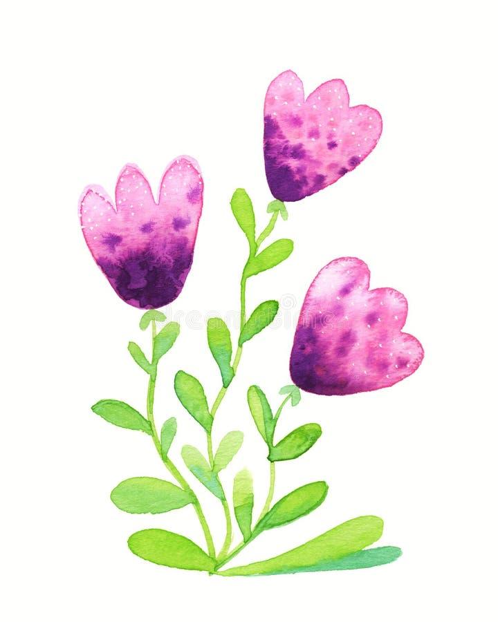 Розовые цветки иллюстрация вектора
