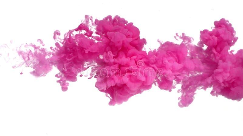 Розовые чернила в воде стоковое изображение rf