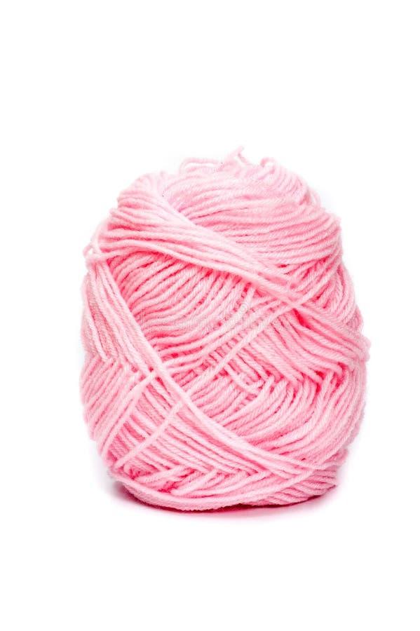 Розовые шерсти пряжи для вязать стоковая фотография rf