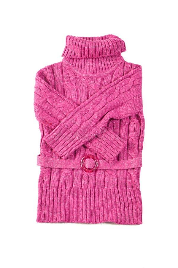 розовые шерсти свитера стоковая фотография rf