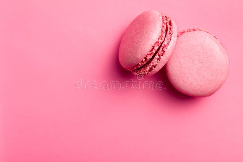 Розовые macaroons стоковая фотография rf