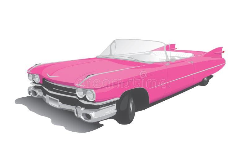 Розовый автомобиль с откидным верхом бесплатная иллюстрация