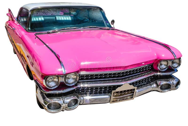 Розовый винтажный Eldorado Кадиллака стоковые изображения