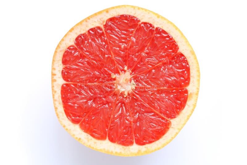 Розовый грейпфрут #2 изолированное куском стоковое изображение rf