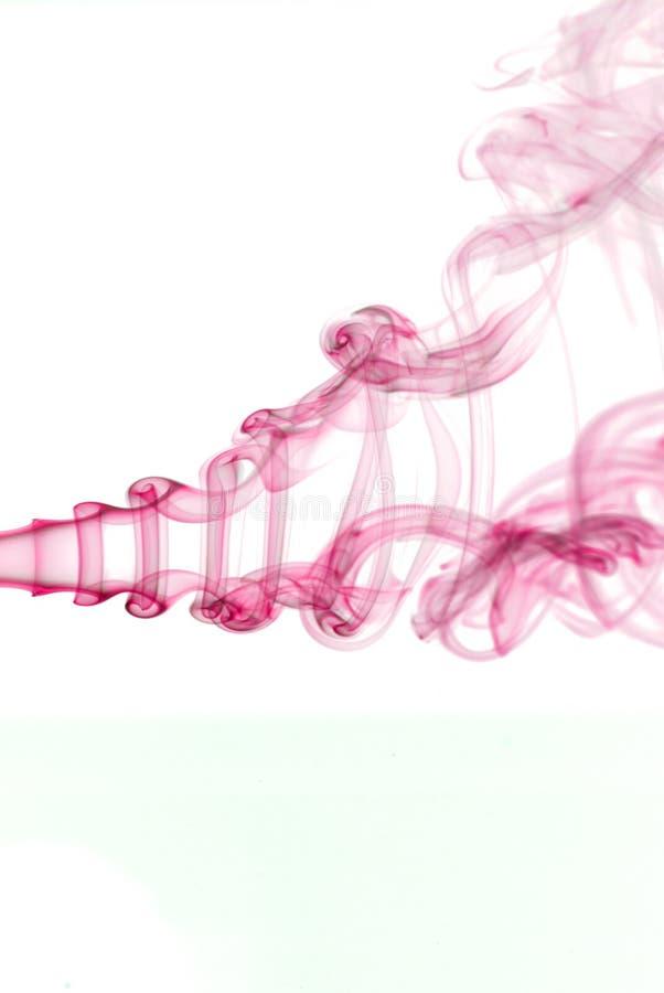 розовый дым стоковое фото