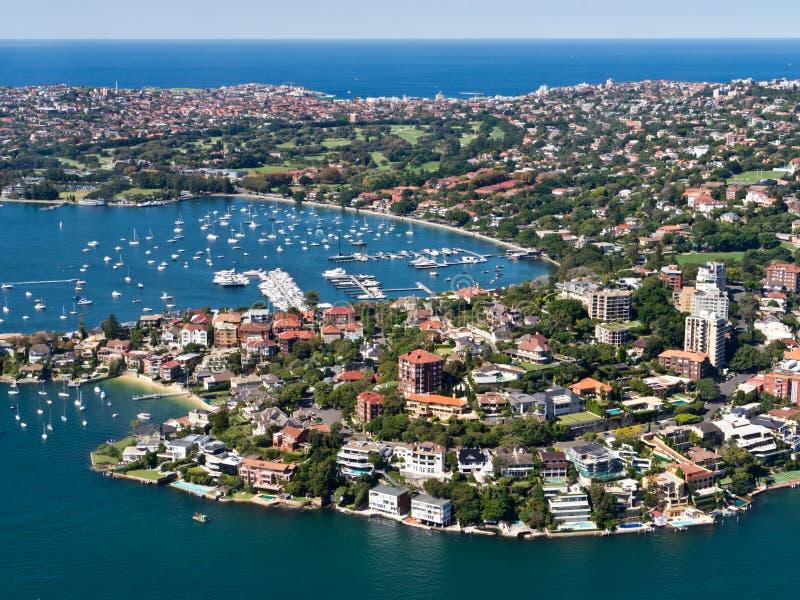 Розовый залив, Сидней стоковое изображение