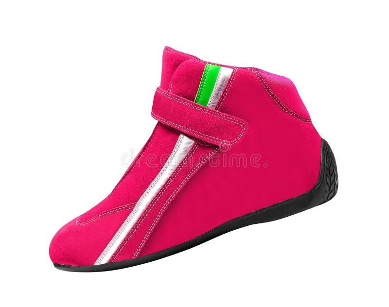 Розовый изолированный ботинок стоковые изображения