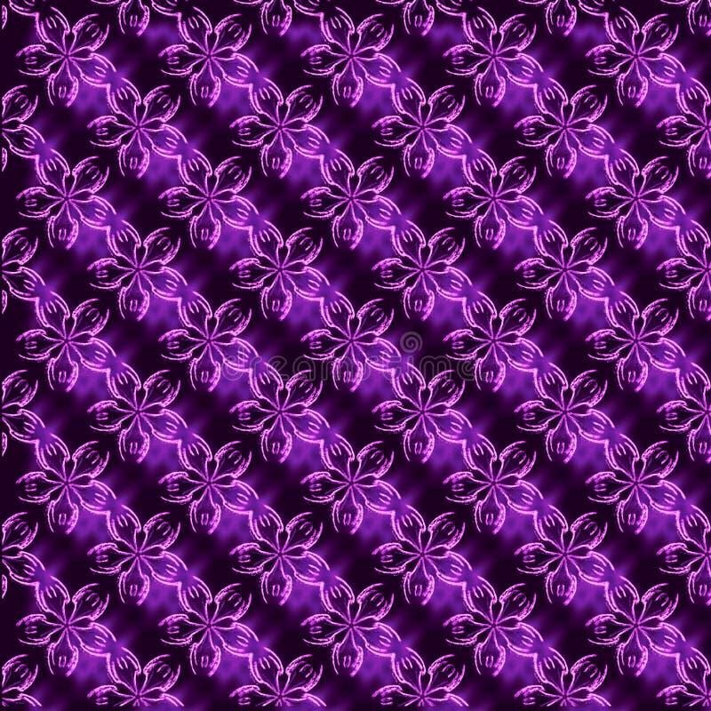 Розовый и фиолетовый цветочный узор стоковая фотография