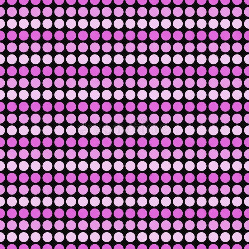 Розовый и черный ба повторения картины плитки дизайна конспекта точки польки иллюстрация штока