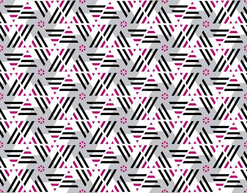 Розовый и черный цвет stripes безшовная картина иллюстрация вектора
