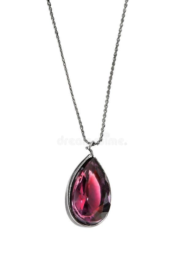 Розовый кристаллический шкентель стоковые изображения